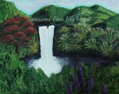 Original Painting Hawaiian Waterfall