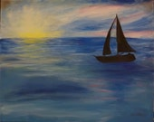 Original Painting Tranquil Sail