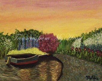 Original Fine Art Painting  the Boat