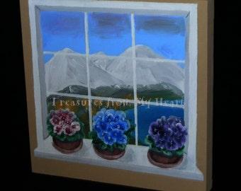 Original painting The Window Garden