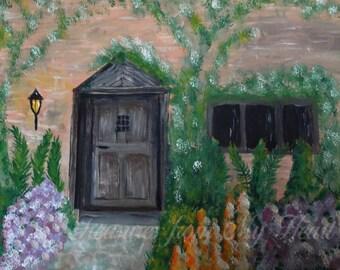 Original Painting The Cottage Door