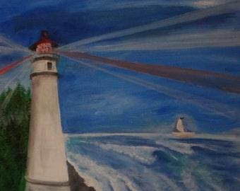 Original Painting Umpqua Lighthouse