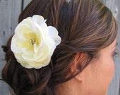 Bridal Hair Comb Silk Rose & Rhinestone Wedding Comb Rose Comb Pale Yellow Flower Comb Wedding Hair Accessories Bridesmaid Comb