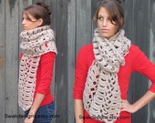 Chunky Oversized Wool Scarf Thick Long Knit Scarf Women's Accessories Handmade Verle Scarf - Natural or Choose Your Color