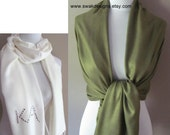 Pashmina Scarf Sage Green Wedding Pashmina Bridal Accessories Bridal Shawl Wrap Gifts for Her Bridesmaid Gift Idea CHOOSE Your Color
