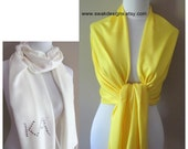 Wedding Pashmina Canary Yellow Pashmina Scarf Wrap Wedding Scarf Stole Bridesmaid Gift Idea Shawl - or CHOOSE Your Color