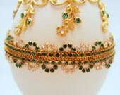 Divine Emerald Treasures Faberge Style Jeweled Egg