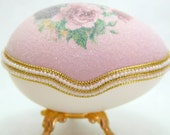 Charming Courtyard Flowers Faberge Style Egg