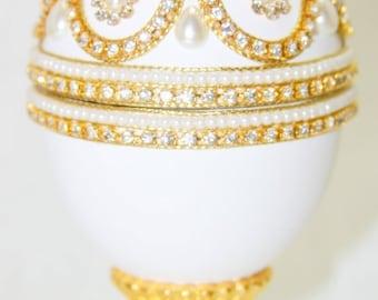 Regal Royal Jewels Faberge Style Jeweled Egg