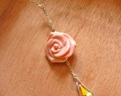 STOREWIDE 50 PERCENT DISCOUNT - A Rose by the Sparkling Water Lariat in Sterling Silver