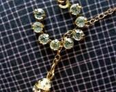 50 PERCENT DISCOUNT - Blissful Horseshoe Pearl Necklace - Vintage Swarovski Horseshoe with Pearl
