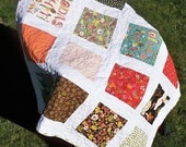 For Jami All Squared Up gender neutral Toddler Crib Lap Quilt Wee Woodland by Keiki for Moda