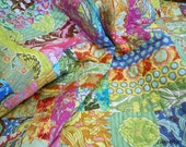 2 day sale 20% off Twin size Soul Blossom fit for your Diva quilt 72 X 87 with Soul Blossoms fabrics by Amy Butler big bold beautiful