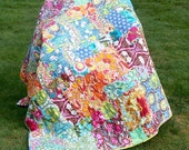 Soul Blossom fit for your Diva quilt  58X79  with Soul Blossoms fabrics by Amy Butler big bold beautiful
