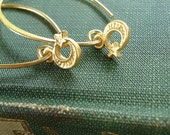 Moon and Star Marquise Hoop Earrings: 24K Vermeil,Turkish Satin Finish, Everyday Luxe Jewelry by AlpineGypsy on Etsy