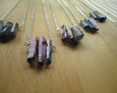 Three Sisters: Mystic Violet Crystal Necklace No. 9, Trio of Titanium Finish Crystals, Bohemian Gypsy, Modern Jewelry by AlpineGypsy on Etsy