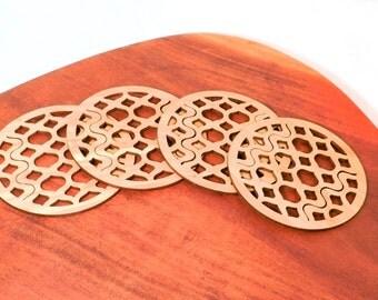 Ogee Bamboo Coasters