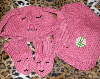 Bonnie the Bunnie Hat Set