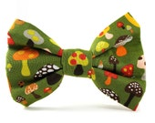 Dog Bow Tie in Shroomy, Removable and Adjustable, Bow Tie for Dogs and Weddings, Made to Order in Your Choice of Size