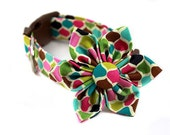 Dog Collar Flower Set...Sweetwater Candy...Made to Order in Your Choice of Size
