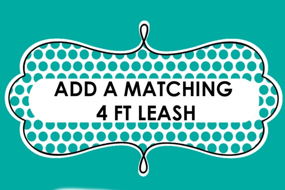Add a Matching 4ft Leash, Your Choice of Style