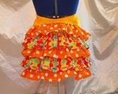 Multi Colored Fun Frivolous Whimsical Victorian Bustle