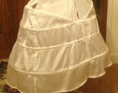 Marie Antoinette Panniers Cage Crinoline White Muslin Side Pocket Hoops