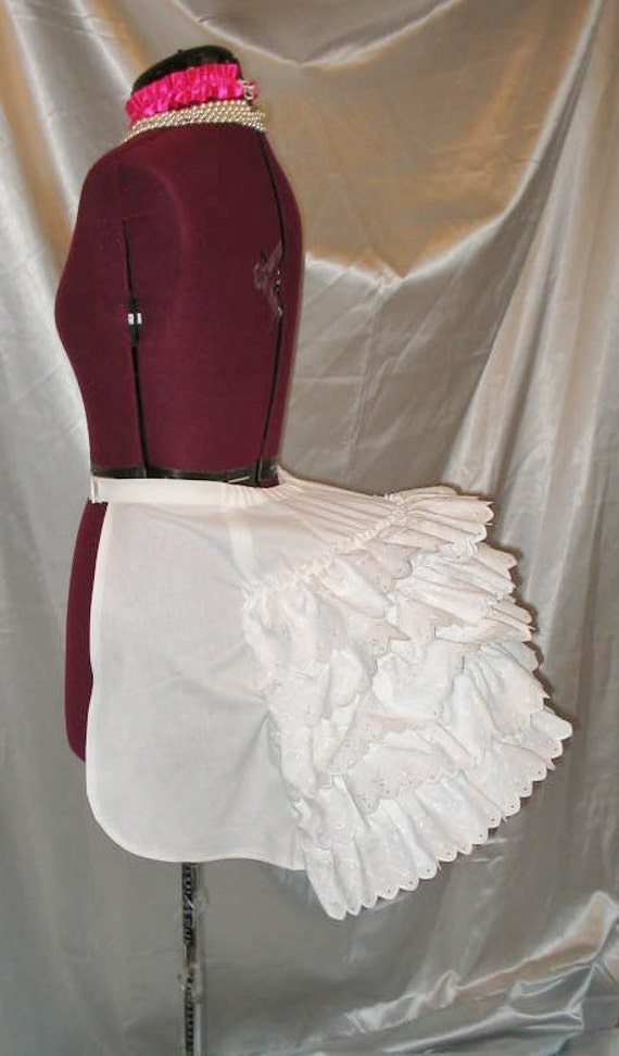 Victorian Hoop Skirt, Petticoat, Underwear Victorian Bustle Cage Frame Late 1800s Bustle Dress Costume with petticoat ruffles $98.99 AT vintagedancer.com