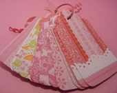 Pretty in Pink Shipping Tags, Gift Tags, Customer Tags, Scrapbooking Tags