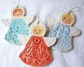 Handmade Angel Ornaments Set of 3