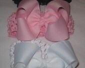 Starter Hair Bow Set for a Princess 3 Hairbows 3.5 inch with Matching Headbands