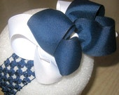 Hairbows, Large Hairbow, Big Blue Bow, Nautical Navy Blue Bow, Double Layered Bows, Boutique Hairbow, Girls Hair Bows, baby Headbands