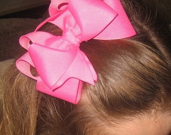 Boutique Hair Bows, Girls Hairbows, Big hair bows, Hair Bow Lot Set of 4, Large Hair Bow Lot, Wholesale hair bows, Double Layer Bows, dcs