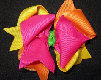 Citrus Cooler M2M m2mg Hair Bow for Gymboree Girls Triple Layers and Loops