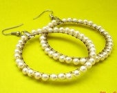 City Chic Hoop Earrings (White) - FREE Shipping
