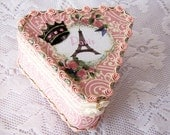 FREE SHIPPING Vintage Antique Look Decorated Trinket Boxes Eiffel Tower