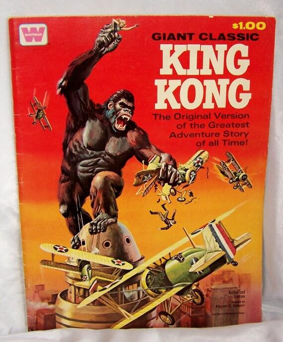 FREE SHIPPING 1968 Giant Classic King Kong Comic Book by Whitman