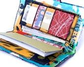 Hand Painted Checkbook Wallet - Graffiti Checkbook - Graffiti Canvas Wallet