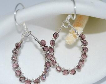 Czech Glass Wire Wrapped Earrings