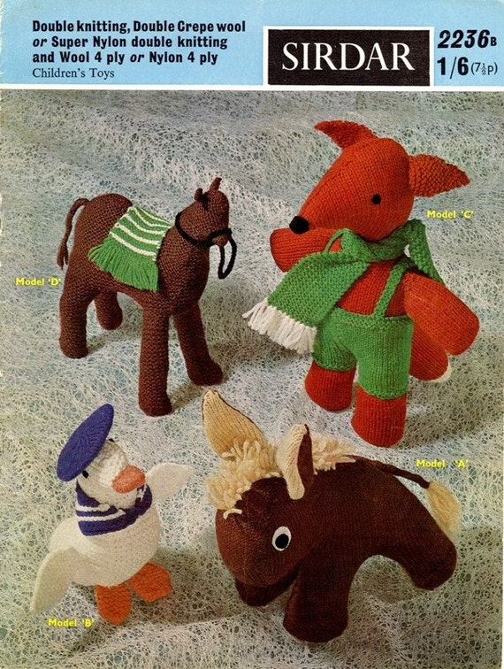 Sirdar Toy Knitting Patterns : Sirdar Knitting Pattern 2236b Childrens Toys PDF by KnitsOfOlde
