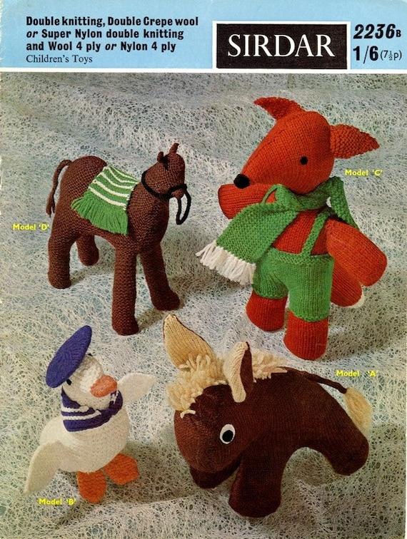 Sirdar Knitting Pattern 2236b Childrens Toys PDF by KnitsOfOlde