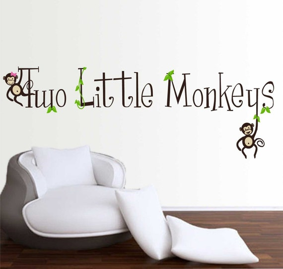 Two Little Monkeys Two Little Monkeys Wall Decal
