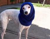 Italian Greyhound Doggie Snood Royal Blue Fleece