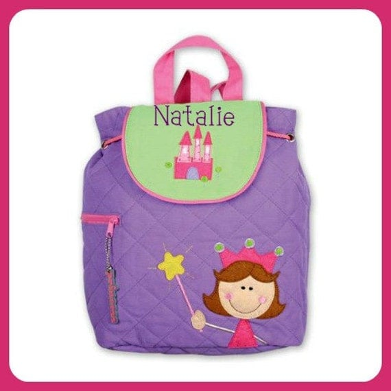Personalized PRINCESS Quilted Toddler BACKPACK by Stephen Joseph