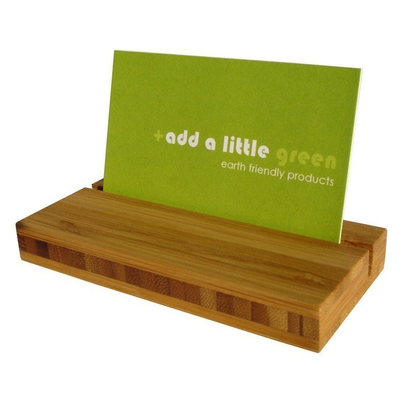 eco friendly bamboo business card holder