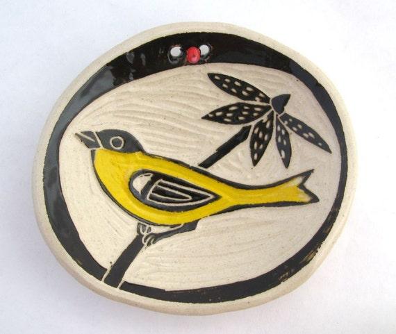 Goldfinch Bead Dish