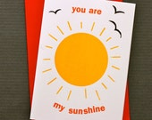 You Are My Sunshine Greetings Card