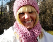 Pink-a-licious Crochet Hat & Scarf Set