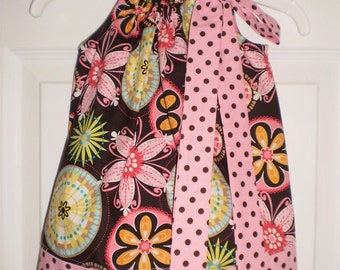READY TO SHIP Carnival Bloom Pillowcase Dress Size 2