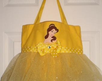 Princess Belle Mini Tutu Tote Bag